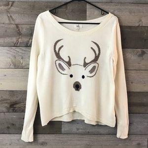 Black Poppy Cream Reindeer Sweater